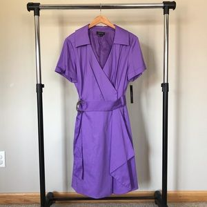Women's Size 16 Tahari Purple Evelyn Dress w Belt